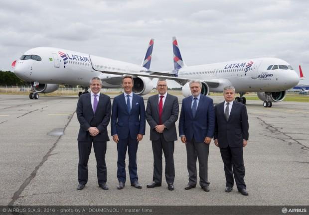 Atualmente, o Grupo Latam mantém mais de 250 aviões Airbus em operação / Divulgação